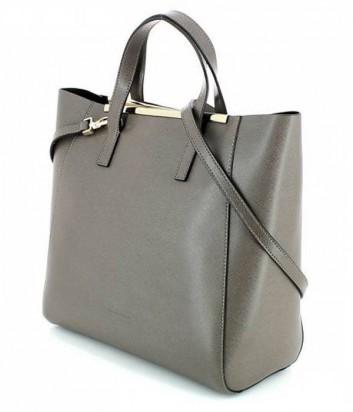 f2c1d2414885 ... Кожаная сумка Coccinelle Amy с металлической фурнитурой серая