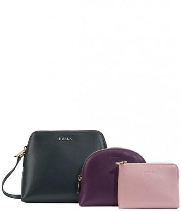 b300741d4f66 Набор Furla Boheme 777655 темно-зеленая сумка и косметички