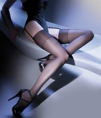 Чулки Gabriella Calze Cher 15 den под пояс черные