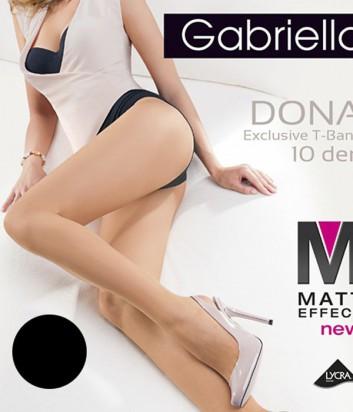 Колготки Gabriella Dona Matt 10 den без трусиковой части черные
