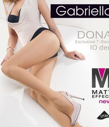 Колготки Gabriella Dona Matt 10 den без трусиковой части телесные