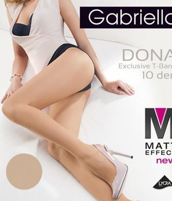 Колготки Gabriella Dona Matt 10 den без трусиковой части легкий загар