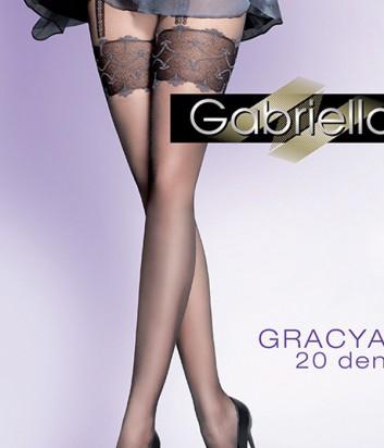 Колготки Gabriella Gracia 20 den без трусиковой части черные