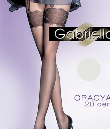 Колготки Gabriella Gracia 20 den без трусиковой части перламутровые