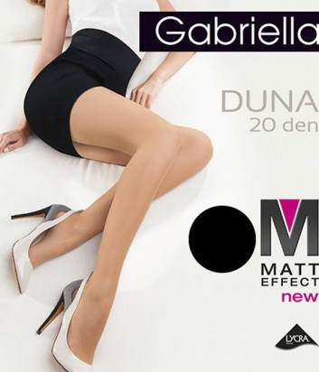 Колготки Gabriella Duna Matt с уплотненными трусиками черные