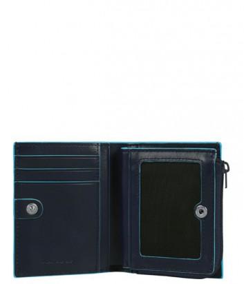Кредитница Piquadro Bl Square PP1351B2_BLU2 на молнии синяя