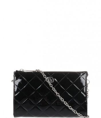 ccfc5bd71717 Маленькая сумочка-клатч Armani Jeans на длинной ручке-цепочке черная ...