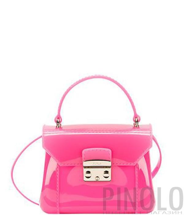 18090e968df0 Силиконовая сумка Furla Candy 792034 через плечо ярко-розовая ...
