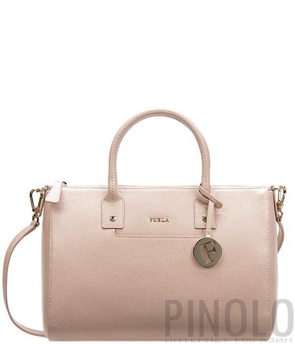 67a5369db6e6 Сумка Furla Linda 793560 средняя пудрово-розового цвета - купить в ...
