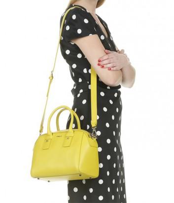 Кожаная сумка Furla Allegra 808996 средняя цвета лайма