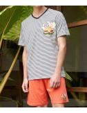 Мужской комплект для дома Gisela Hamburger шорты и футболка полоска