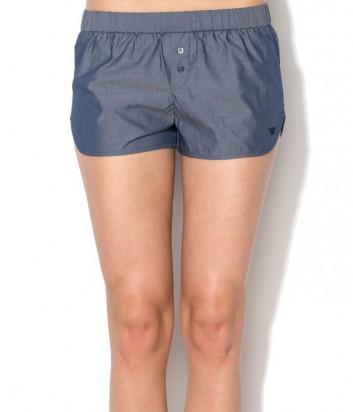 Стильные женские шорты Emporio Armani с эластичным поясом синие