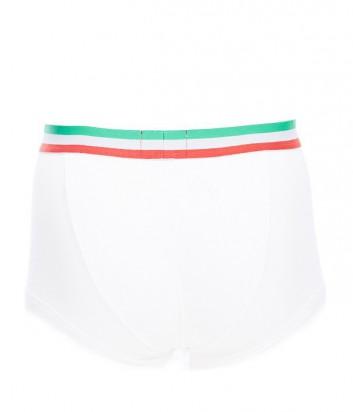 Боксеры Emporio Armani белые резинка с расцветкой в виде флага Италии