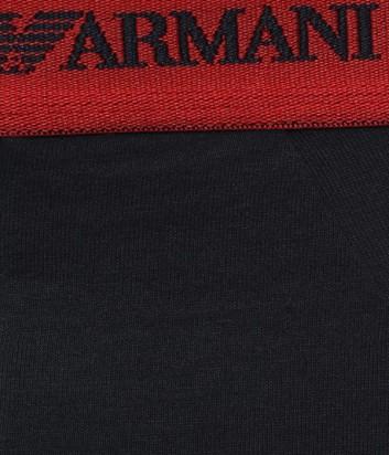 Брифы Emporio Armani (2шт/уп) темно-синие с брендированной резинкой