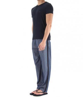 Мужской пижамный комплект Emporio Armani штаны и футболка синий