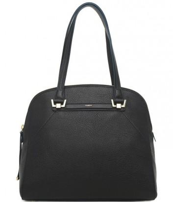Кожаная сумка Furla Corona 821734 с высокими ручками черно-синяя