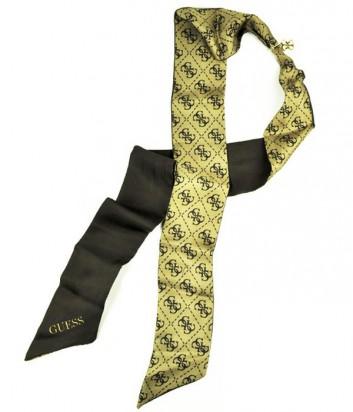 Женский платок-галстук Guess с аккуратной подвеской коричневый