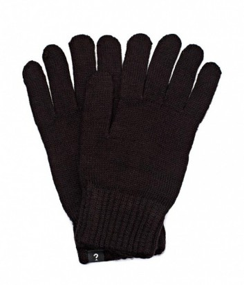 Теплые мужские перчатки Guess черные