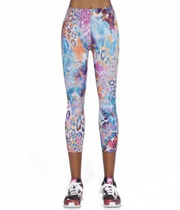Спортивные леггинсы Bas Bleu Fitness Caty короткие с цветным принтом