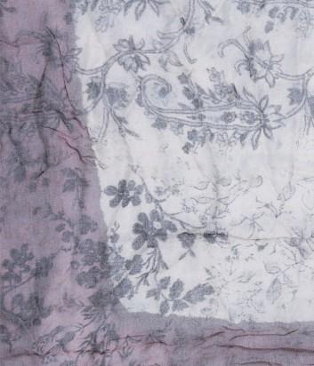 Женский платок 813 Ottotredici с нежным цветочным узором бежевый