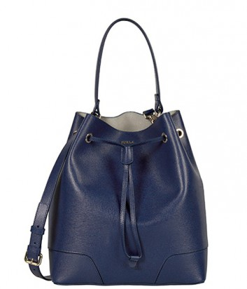 Кожаная сумка с кошельком Furla Stacy 851331 большая синяя