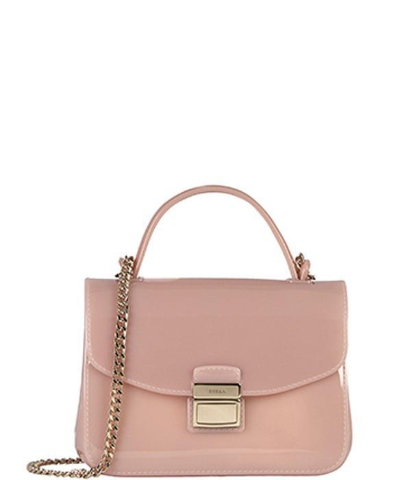 d4563a122fda Силиконовая сумка Furla Candy 801360 на ручке-цепочке пудрово-розовая
