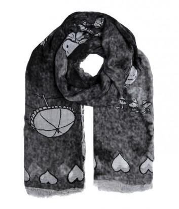 Женский платок 813 Ottotredici с забавным рисунком серый