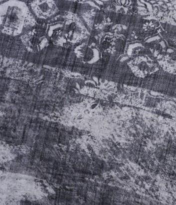 Женский платок 813 Ottotredici с абстрактным узором графитово-серый