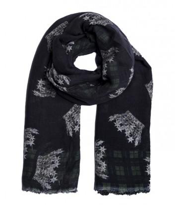 Женский теплый шарф 813 Ottotredici с красивым рисунком серый