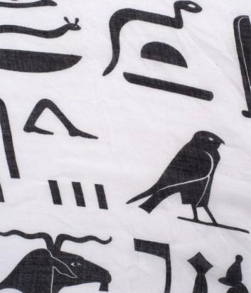 Женский шарф 813 Ottotredici с абстрактным рисунком черно-белый