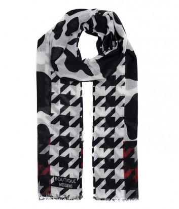 Женский шарф Moschino Boutique MS-007 комбинированный бордовый