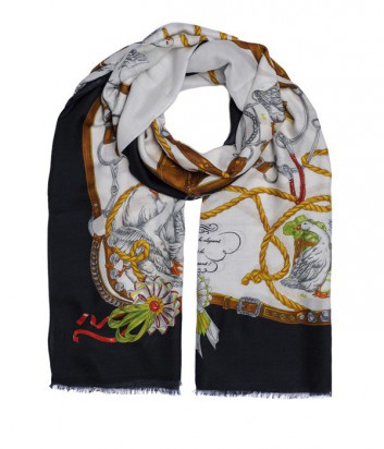 Женский шарф Moschino Boutique MS-019 с ярким принтом