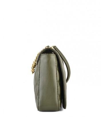 7defd1763683 ... Большая стеганная сумка Love Moschino на длинной цепочке цвета хаки ...