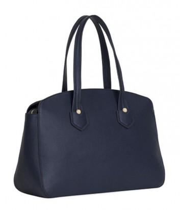 Кожаная сумка Furla Giada 870024 с высокими ручками темно-синяя