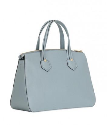 Кожаная сумка Furla Giada 870033 с внешним карманом нежно-голубая