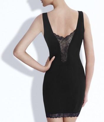 Утягивающее платье Simone Perele с глубоким кружевным вырезом черное