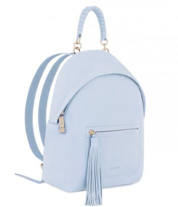 65981748c609 ... Большой женский рюкзак Coccinelle Leonie из мягкой кожи нежно-голубой  ...