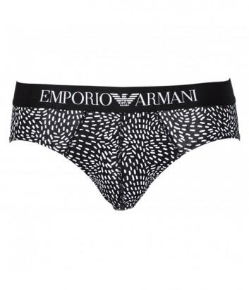 Трусы-брифы Emporio Armani с абстрактным принтом и логотипом на поясе