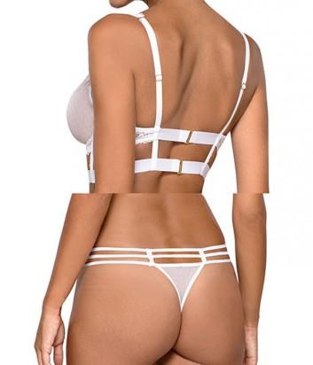 Комплект Ewa Bien Safona мягкое бюстье B910 и стринги C212 белый