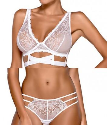 Комплект Ewa Bien Safona мягкое бюстье B910 и стринги C213 белый