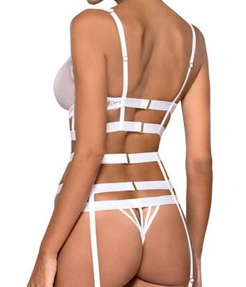 Комплект Ewa Bien Safona мягкое бюстье B910 и стринги C214 белый