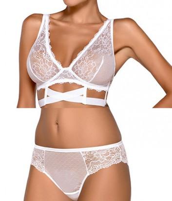 Комплект Ewa Bien Safona мягкое бюстье B910 и бразилианки C511 белый