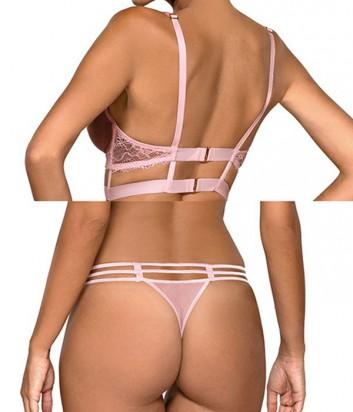 Комплект Ewa Bien Safona мягкое бюстье B910 и стринги C212 розовый