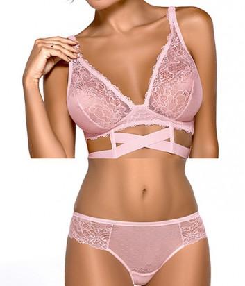 Комплект Ewa Bien Safona мягкое бюстье B910 и бразилианки C511 розовый