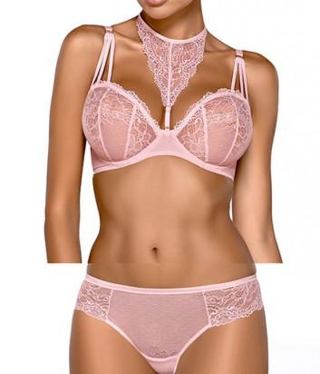 Комплект Ewa Bien Safona мягкий бюст B119 и бразилианки C511 розовый