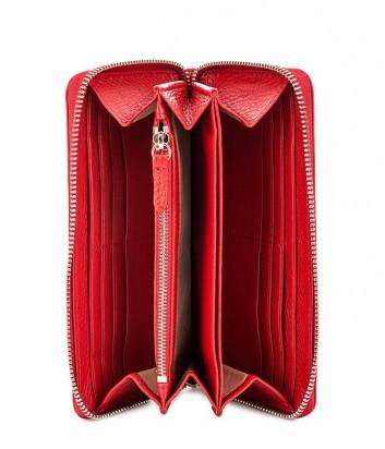 Женский кошелек Coccinelle из мягкой кожи на молнии красный