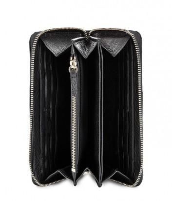 Женский кошелек Coccinelle из мягкой кожи на молнии черный