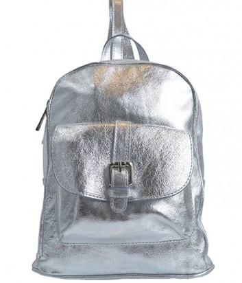 Кожаный рюкзак Nila&Nila серебристый
