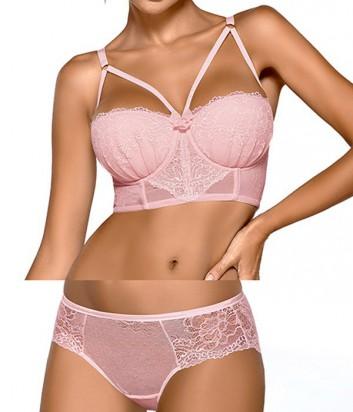Комплект Ewa Bien Safona бюстье push up B244 и трусики C110 розовый