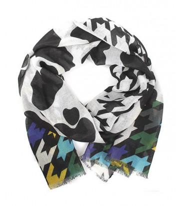Женский шарф Moschino Boutique MS-007 комбинированный бирюзовый